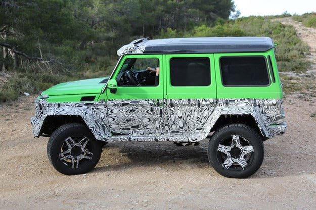Нов звяр: Mercedes G63 AMG 4x4 Green Monster