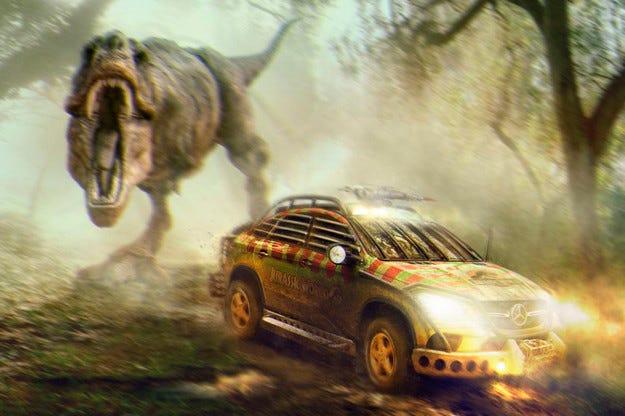 Mercedes преработи GLE Coupe за снимките на Jurassic World