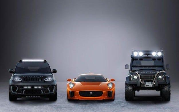 Показаха колите Jaguar Land Rover за филма Spectre
