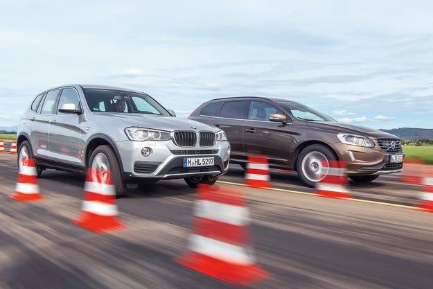BMW X3 и Volvo XC60