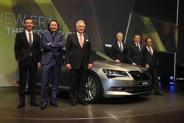 Чешката компания Skoda представи новото поколение Superb