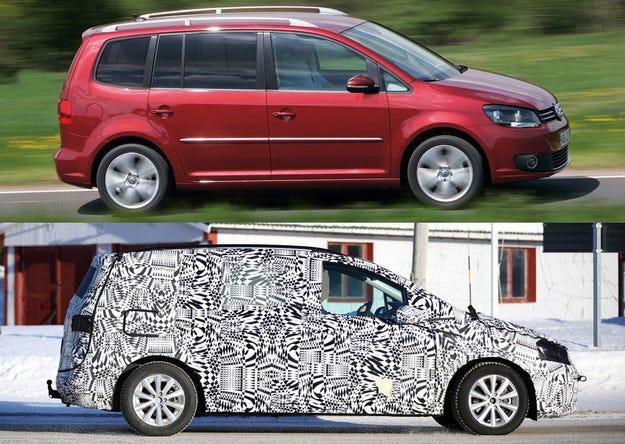 Компактният ван Volkswagen Touran става по-голям
