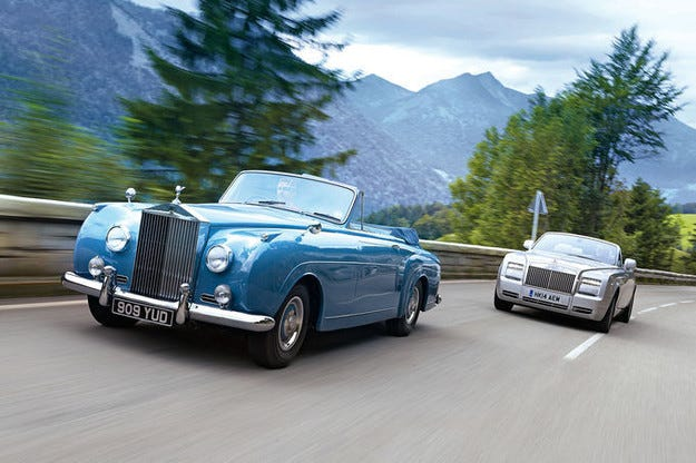 Rolls-Royce Phantom и Silver Cloud