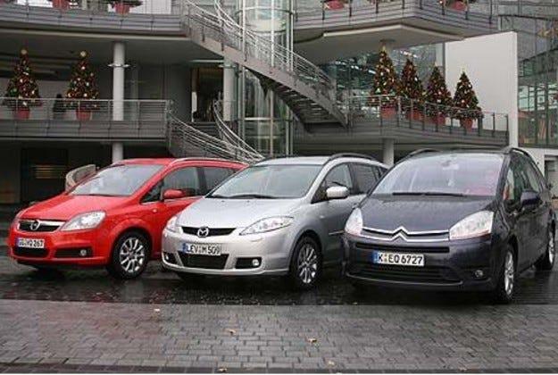 Citroen C4 Picasso vs. Opel Zafira vs. Mazda 5