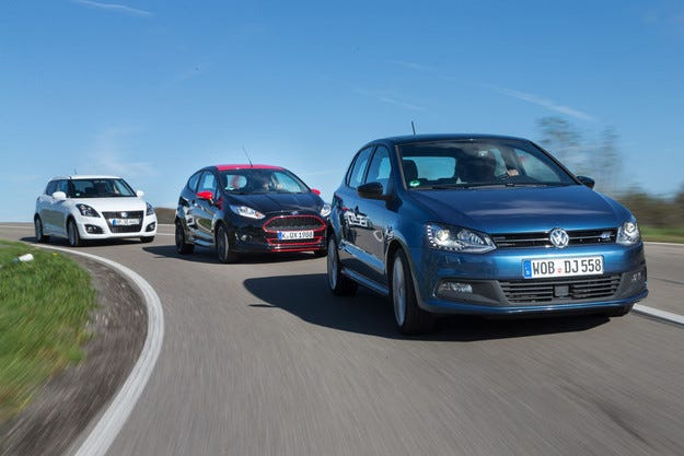 Ford Fiesta, Suzuki Swift Sport, VW Polo Blue GT