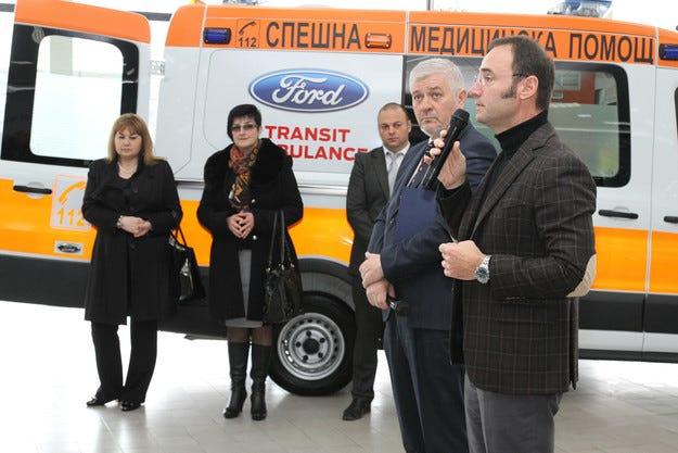 Нови линейки Ford отиват на служба в Хасково и Ловеч