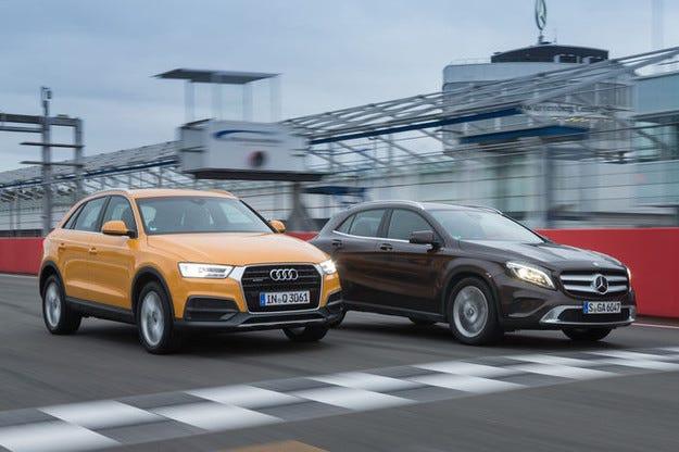 Audi Q3 срещу Mercedes GLA