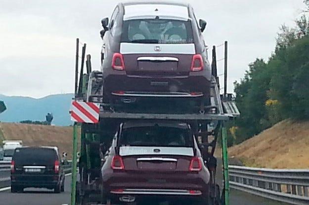 Обновеният Fiat 500 е сниман без камуфлаж