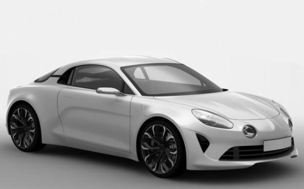 Патентните рисунки на Alpine намекват за серийно купе