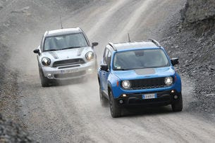 Jeep Renegade срещу MINI Countryman