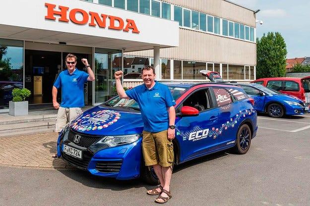Honda Civic Tourer постигна рекорд по икономичност