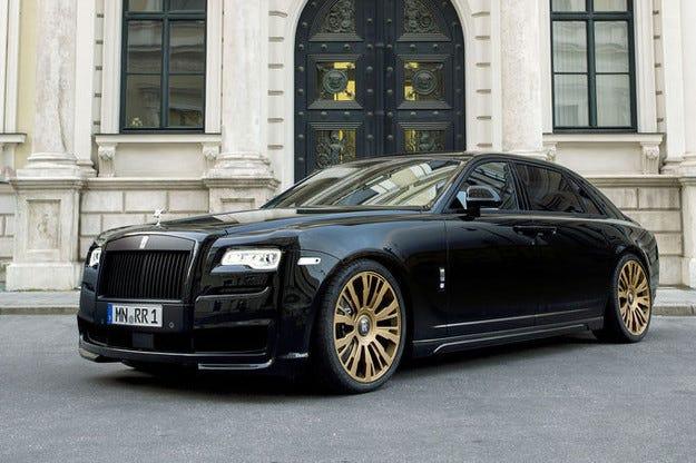 Black One Rolls-Royce Ghost: Черен златен фантом
