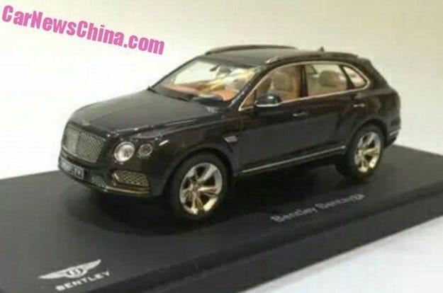 Разкриха дизайна на първия кросоувър Bentley с играчка