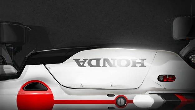 Honda Project 2and4 е кръвосмешение с мотоциклет
