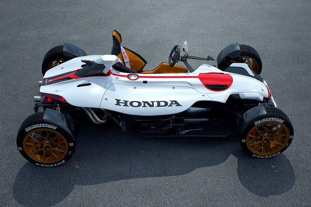 Honda направи автомобил с двигател на мотоциклет