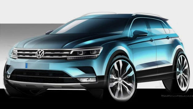 Разкриха дизайна на новото поколение на VW Tiguan