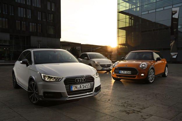 Audi A1, Mini One и Opel Adam