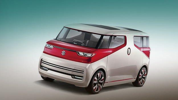 Компанията Suzuki създаде концептуални пикап и миниван