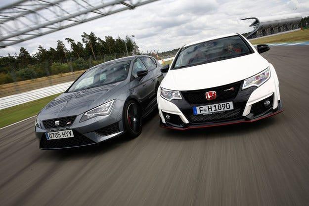 Honda Civic Type R срещу Seat Leon Cupra 280