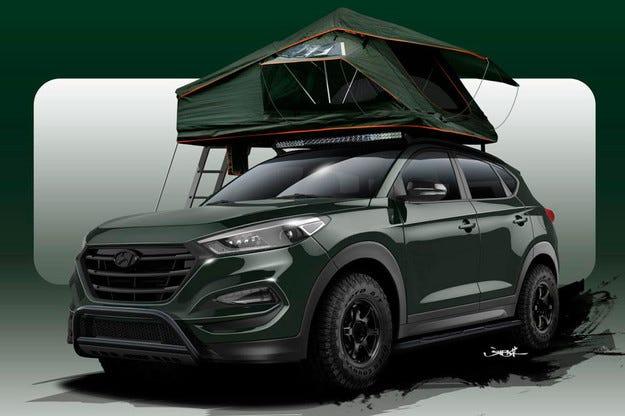Hyundai  разработи кросоувър с палатка на покрива