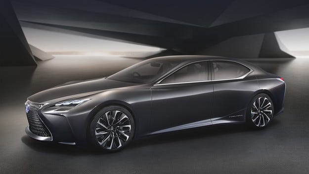 Компанията Lexus разсекрети предвестника на новия LS