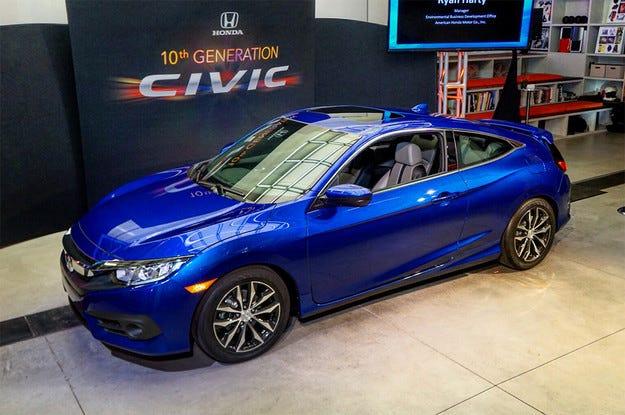 Новото поколение на купето Honda Civic получи турбо мотор