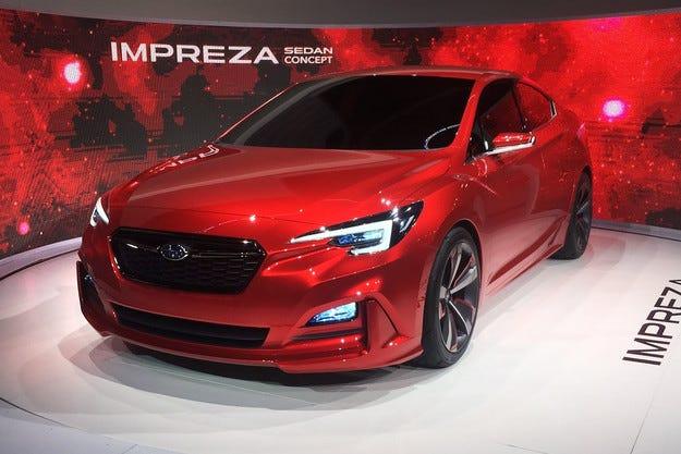 Subaru  показа предвестника на новия седан Impreza