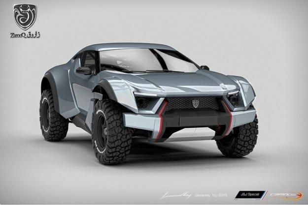 Кросоувърът Zarooq Sand Racer ще мери сили из пустинята