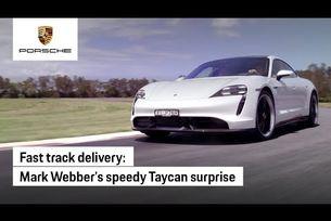Марк Уебър и луксозното такси Taycan