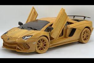 Lamborghini Aventado S 2021 - Woodworking Art