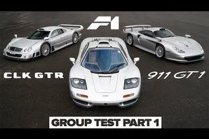 McLaren F1, Porsche 911 GT1, Mercedes CLK GTR