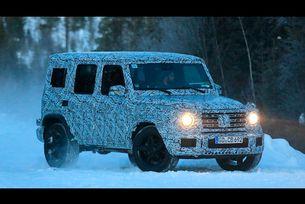 Mercedes Benz AMG G63 зимни тестове