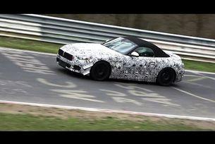 BMW Z5 Z4 2018 тестове на пистата Нюрбургринг
