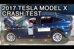 2017 Tesla Model X краш тест с челен удар