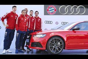 Футболистите на Байерн Мюнхен получават автомобилите си Audi