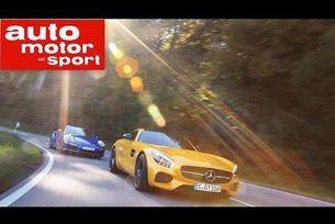 Mercedes AMG GT среща Porsche 911