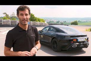 Марк Уебър тества Porsche Mission E
