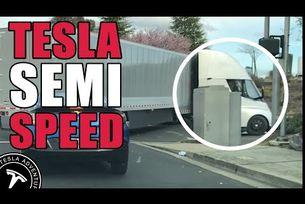 Камионът Tesla ускорява като спортен автомобил