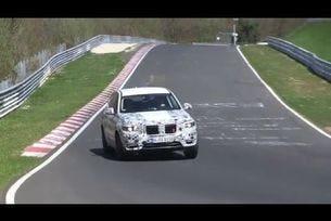 2017 BMW X3 на тестове на пистата Нюрбургринг