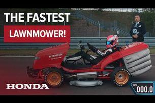 Косачката на Honda с рекорд на Гинес за скорост