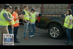 Електрическият пикап Ford тегли 454 тона
