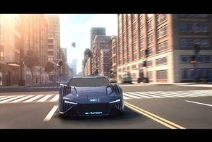 Концептуален автомобил Audi за рисуван филм