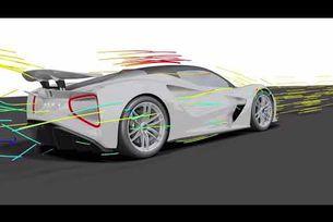 Аеродинамичните качества на Lotus Evija