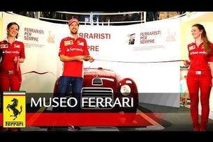 Себастиан Фетел посети музея на Ferrari в Маранело