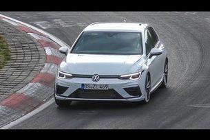 VW Golf 8R на тестови на Нюрбургринг